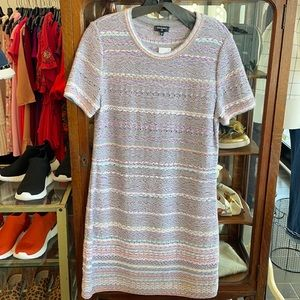 Chanel Short Sleeve Knit Crew Shift Dress
